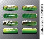 christmas vector green glossy... | Shutterstock .eps vector #524601031
