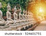 worship of thailand buddha... | Shutterstock . vector #524601751