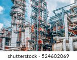 industrial zone the equipment... | Shutterstock . vector #524602069