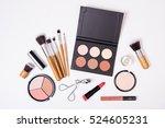 professional makeup tools ... | Shutterstock . vector #524605231