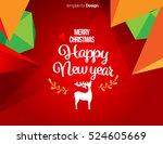 vector happy new year design  ... | Shutterstock .eps vector #524605669