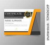 certificate template awards... | Shutterstock .eps vector #524606149