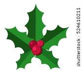 european christmas berry holly... | Shutterstock .eps vector #524610211