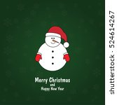 green christmas card with... | Shutterstock .eps vector #524614267