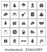 christmas icons | Shutterstock .eps vector #524614399