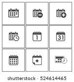 calendar icons   Shutterstock .eps vector #524614465