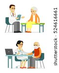 medicine concept with doctor... | Shutterstock .eps vector #524616661