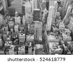 new york city skyline aerial... | Shutterstock . vector #524618779