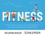 fitness concept illustration of ... | Shutterstock . vector #524619004