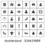 fashion icons | Shutterstock .eps vector #524619889