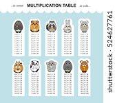 vector multiplication table.... | Shutterstock .eps vector #524627761