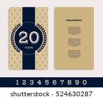 anniversary invitation greeting ... | Shutterstock .eps vector #524630287