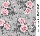 seamless pattern with pink... | Shutterstock . vector #524631049