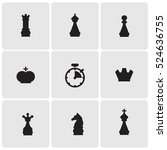chess icons | Shutterstock .eps vector #524636755