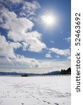 bright sunny day on lake tahoe... | Shutterstock . vector #52463692
