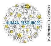 human resource and management... | Shutterstock . vector #524645359