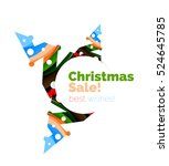 christmas colorful geometric... | Shutterstock . vector #524645785