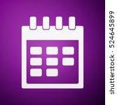 calendar flat icon on purple...