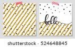 Gold Glitter Typography.hello ...