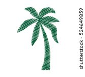 tree palm tropical isolated... | Shutterstock .eps vector #524649859