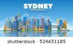 sydney city architecture vector ... | Shutterstock .eps vector #524651185