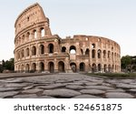 colosseum in rome from ground... | Shutterstock . vector #524651875