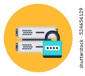 secure cloud network icon....   Shutterstock .eps vector #524656129