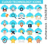 cloud technology icons  it... | Shutterstock .eps vector #524658199