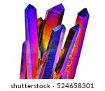 amazing colorful quartz rainbow ... | Shutterstock . vector #524658301