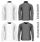 men's long sleeve black and... | Shutterstock .eps vector #524658409