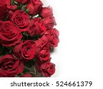 Stock photo red roses on white background 524661379