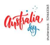 happy australia day poster.... | Shutterstock .eps vector #524663365