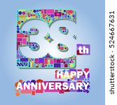 38 happy anniversary abstract...   Shutterstock .eps vector #524667631