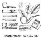 hand drawn vintage vector...   Shutterstock .eps vector #524667787