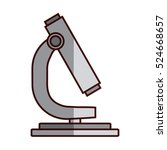 microscope science tool icon... | Shutterstock .eps vector #524668657