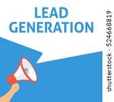 lead generation announcement.... | Shutterstock .eps vector #524668819