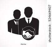 business people shaking hands | Shutterstock .eps vector #524669407