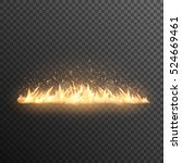 realistic burning fire flames... | Shutterstock .eps vector #524669461