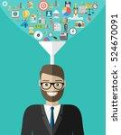 flat design concepts big data...   Shutterstock .eps vector #524670091
