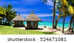 relaxing tropical holidays with ... | Shutterstock . vector #524671081