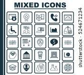 set of 25 universal editable...   Shutterstock .eps vector #524671234
