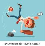falling unsuccessful man...