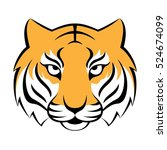 tiger icon. vector illustration ...