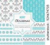 Set Of Christmas Seamless...