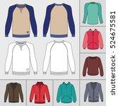 men's clothing outlined... | Shutterstock .eps vector #524675581
