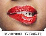 closeup of sensuous woman... | Shutterstock . vector #524686159