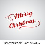 merry christmas greeting card ... | Shutterstock .eps vector #524686387