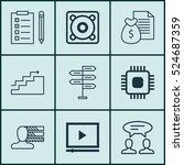 set of 9 universal editable... | Shutterstock .eps vector #524687359