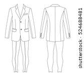 man's suit  jacket   skinny...   Shutterstock .eps vector #524688481