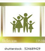 family vector icon | Shutterstock .eps vector #524689429